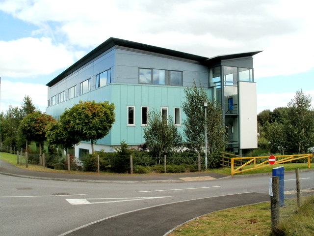 Western side of the Technium building, Llantarnam Industrial Park, Cwmbran