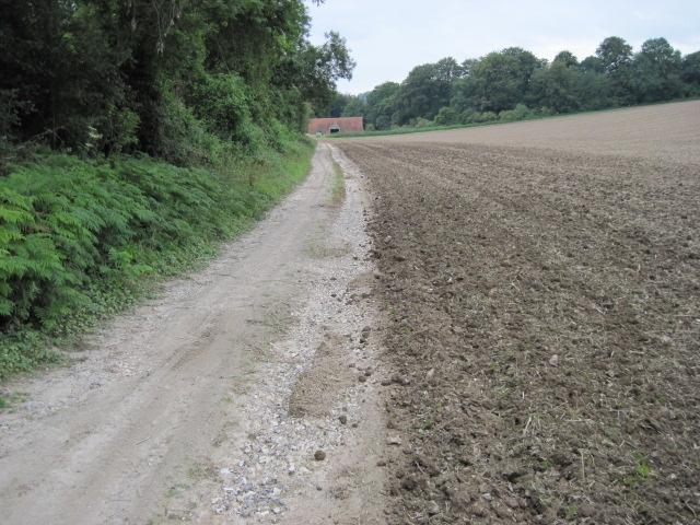 Footpath towards Warren Barn