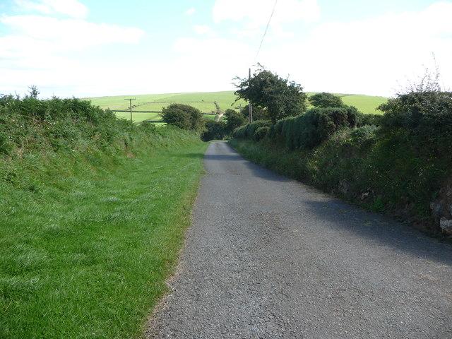 Lane near South Hill farm
