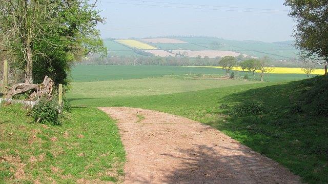 Farmland beneath Holdgate