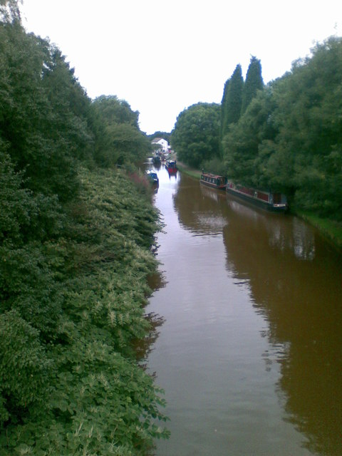 Looking down onto canal