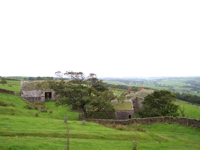 The ruins of Fell End Farm