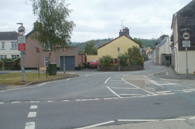 Northern end of Stone Street, Llandovery
