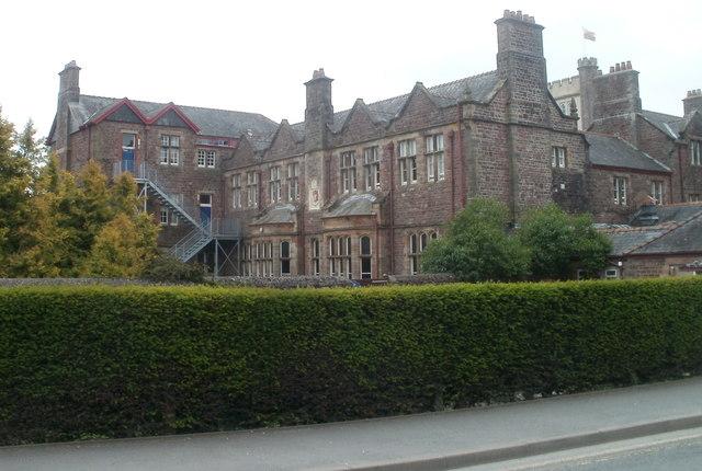NW edge of Llandovery College