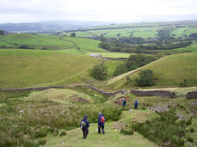 The path off Clougha descends into Littledale