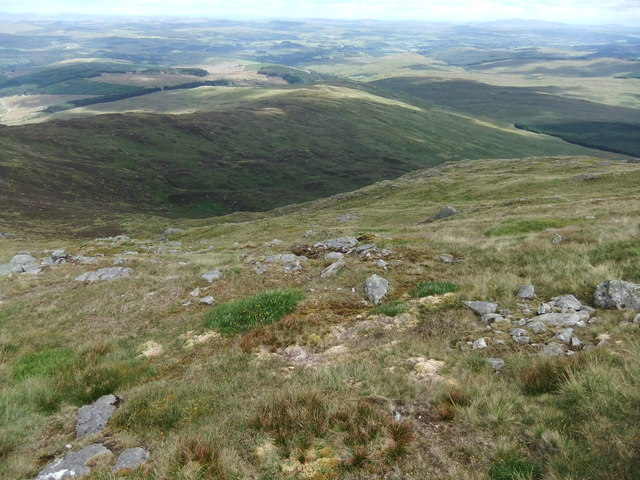 Looking down to the Clints of Clenrie