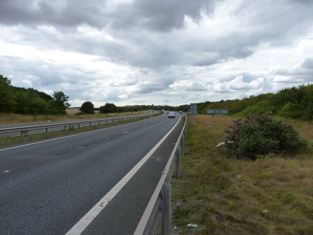 The 'new' A5 coming in towards Telford