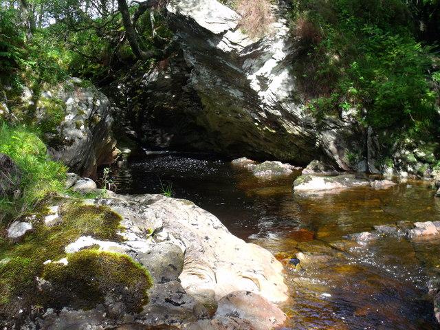 A fall on Strone Burn near Loch Katrine