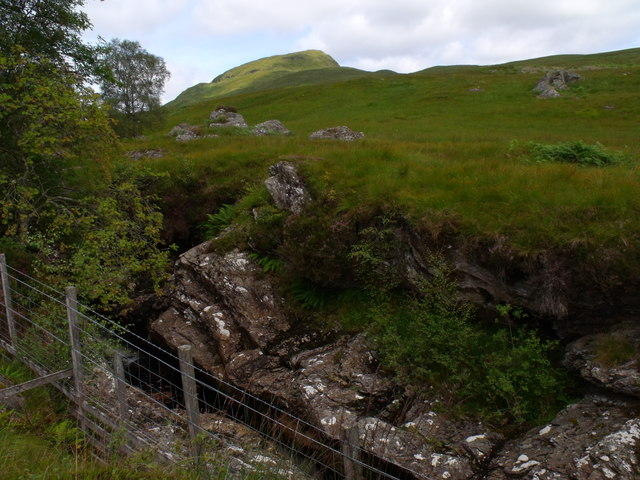 Looking across Strone Burn to its eastern drainage