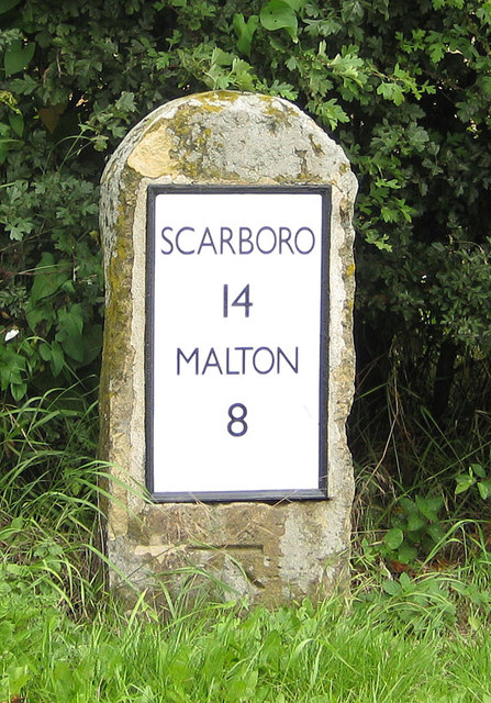 Milestone near East Knapton