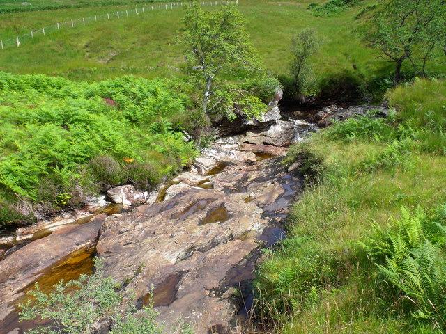 Dry spillway on Strone Burn near Loch Katrine