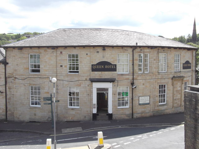 """The Queen Hotel"" (Pub) Rise Lane, Todmorden, Yorkshire OL14 7AA"