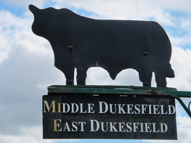 Sign for Middle and East Dukesfield