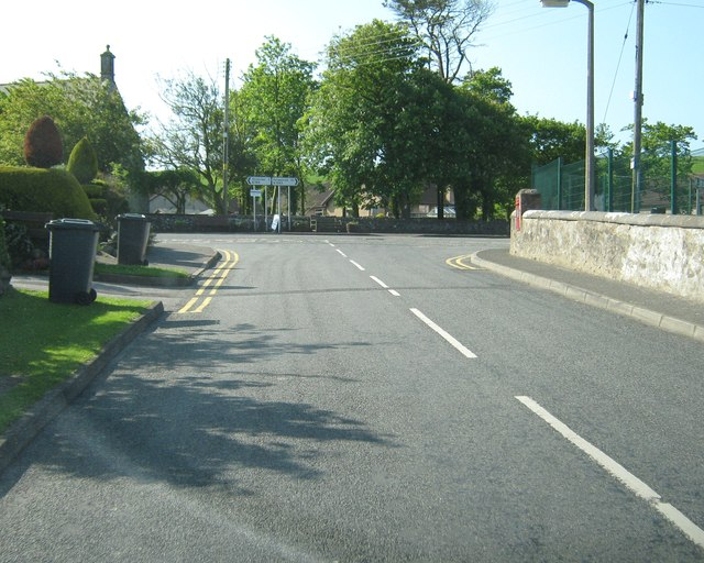Approaching a T junction on Ervie Road