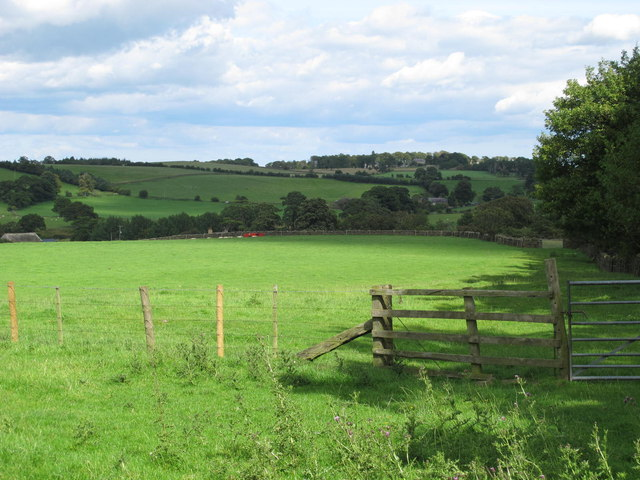 Farmland around East Dukesfield