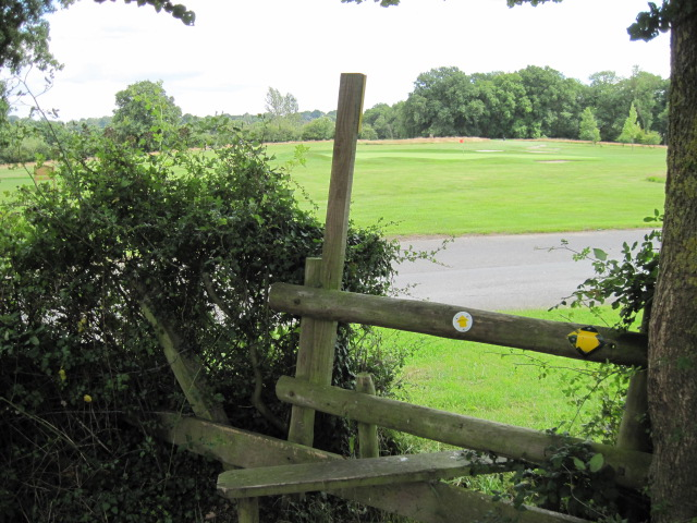 Footpath at East Horton Golf Club
