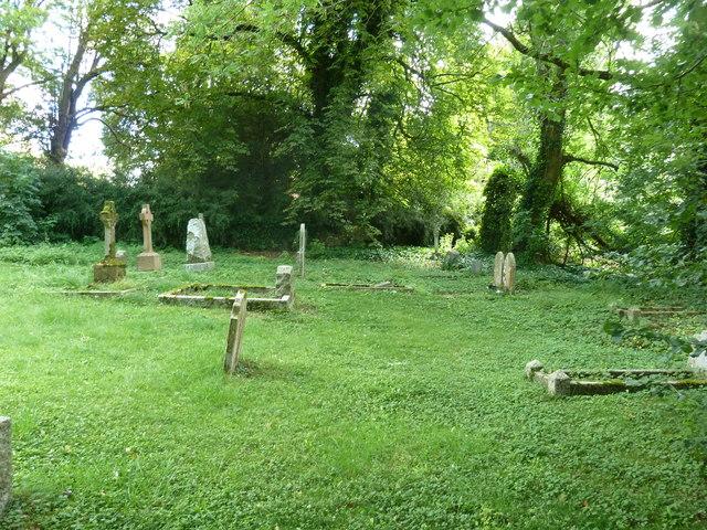 St Peter & Holy Cross, Wherwell: churchyard (A)