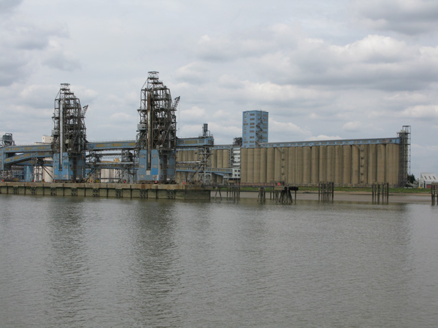 Grain silos at Tilbury