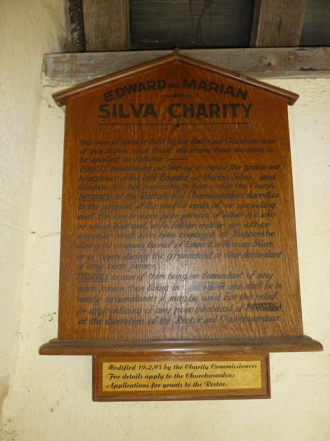 St. Mary the Less, Chilbolton: charitable notice in the porch