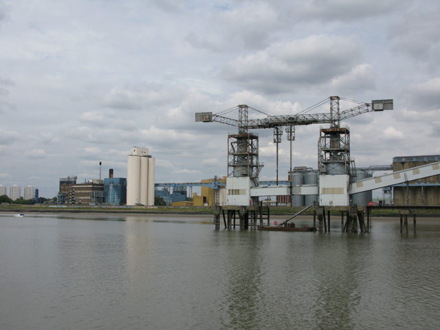 Tilbury's grain stores and jetty