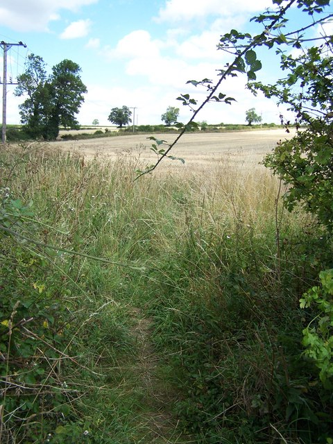 Footpath Near Great Addington