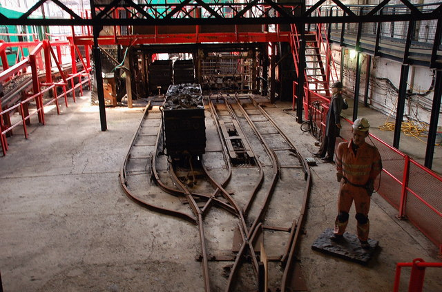 Shaft top at pithead, Lady Victoria Colliery