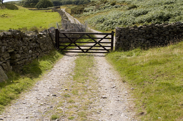 Gate on Permissive Track from High Ickenthwaite