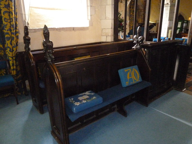 St. Mary the Less, Chilbolton: choir stalls