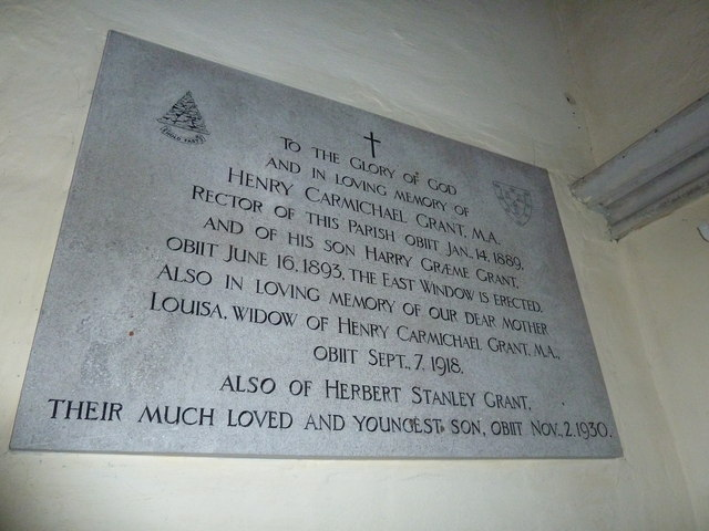 St. Mary the Less, Chilbolton: memorial (3)