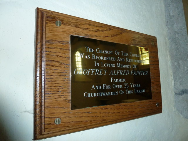 St. Mary the Less, Chilbolton: memorial (4)