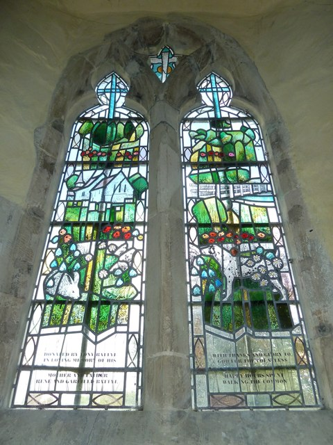 St. Mary the Less, Chilbolton: stained glass window (2)