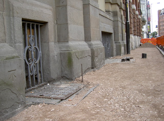 Pavement work in Marsh Street