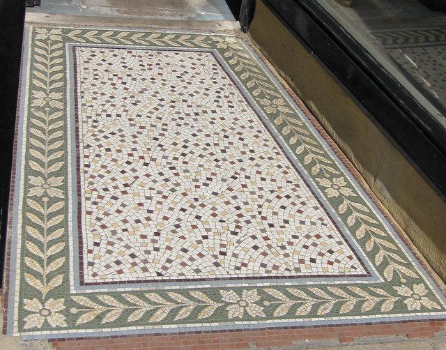 Mosaic floor - shop entrance