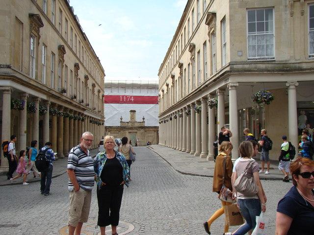 View looking along Bath Street