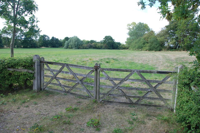Five Bar Gates and Grass Field, on B5014