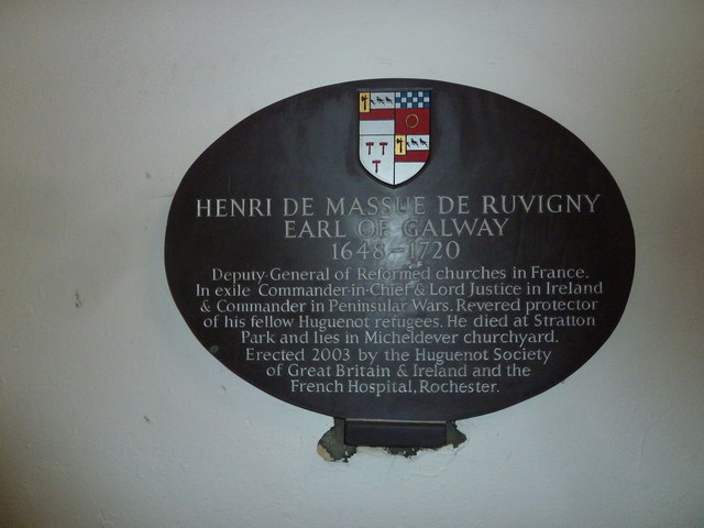 St Mary's, Micheldever: commemorative plaque (i)