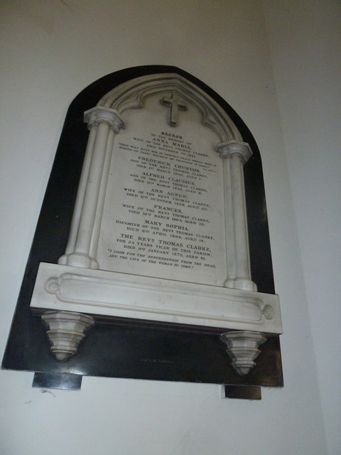 St Mary's, Micheldever: memorial (3)