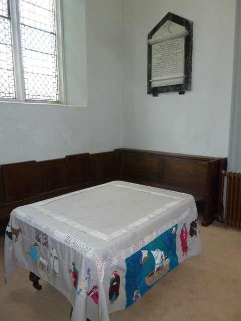 A quiet corner within St Mary's, Micheldever