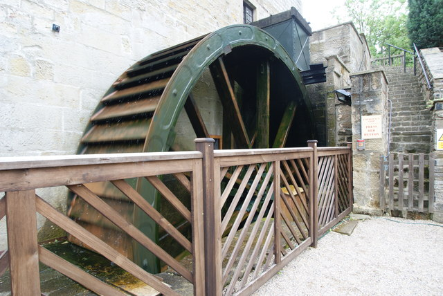 Darley Mill - restored water wheel