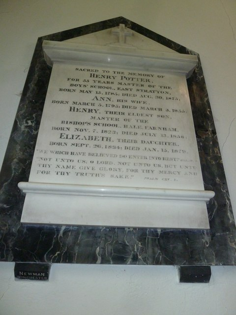 St Mary's, Micheldever: memorial (4)