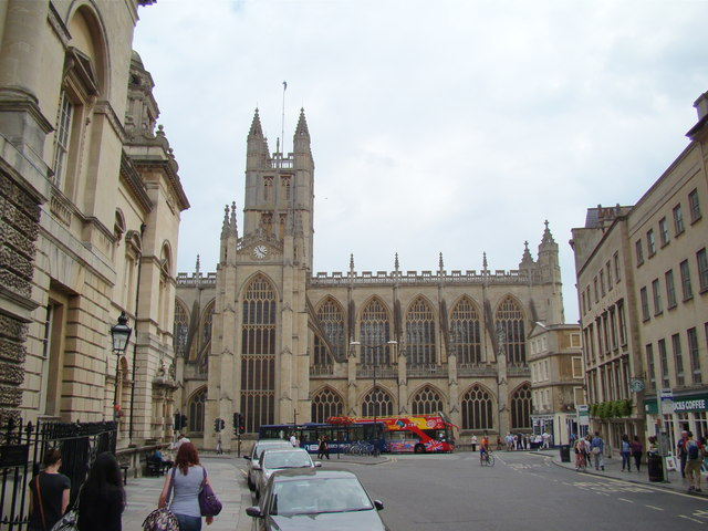 View of Bath Abbey from Cheap Street