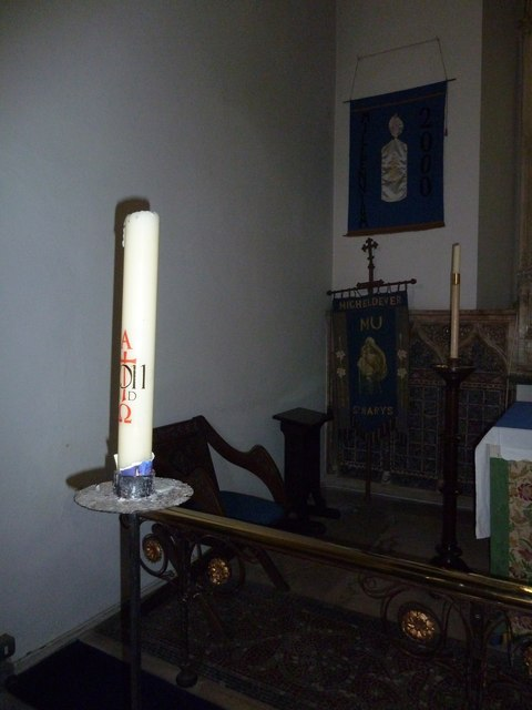 St Mary's, Micheldever: paschal candle