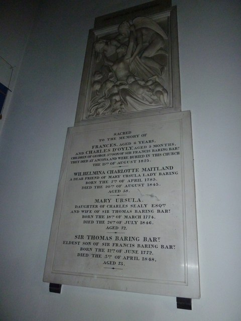 St Mary's, Micheldever: memorial (6)