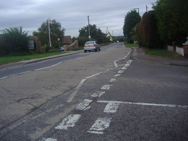 Ongar Road at junction of New Farm Drive