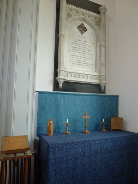St Mary's, Micheldever: side altar