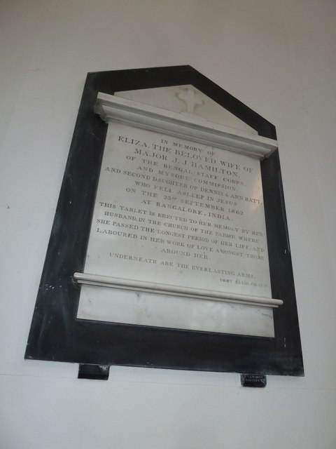 St. Mary, Micheldever: memorial (9)