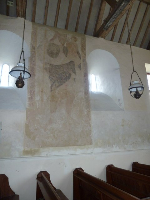 Saint Mary, Tufton: wall painting