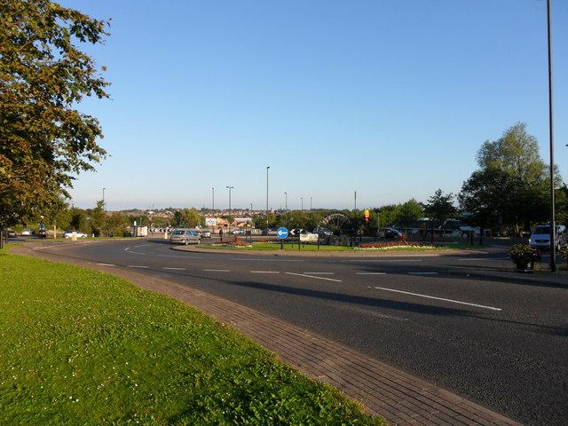 Roundabout at Stamfordham Road/West Denton Way, Westerhope