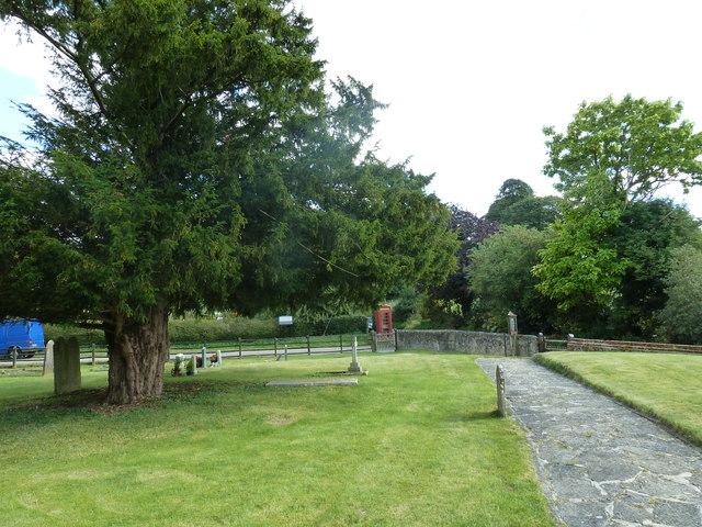 Saint Mary, Tufton: church path