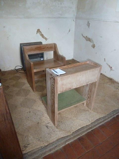 Saint Mary, Tufton: prayer desk
